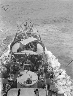 Captain Lord Louis Mountbatten on the bridge of destroyer HMS Kelvin, Sep 1940 Photographer: C. J. Ware Imperial War Museum