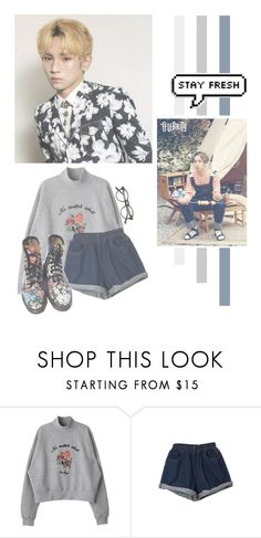 """""""Kim Kibum"""" by lazy-alien ❤ liked on Polyvore featuring Dr. Martens, shinee, key and kimkibum"""
