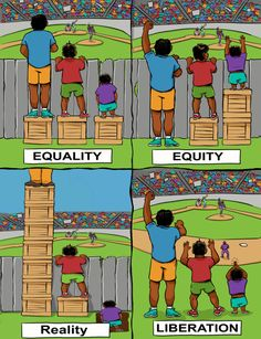 Social justice education - Equity in the Classroom Content, Pedagogy, and Results – Social justice education Social Change, Social Work, Equity Vs Equality, Racial Equality, Satirical Illustrations, Meaningful Pictures, Satire, Social Justice, Classroom