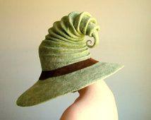 Wide Brim Halloween Witch Hat. Wizard Hat. Fantasy Hat. Cosplay Hat. LARP.
