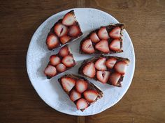 #thingsontoast chocolate almond butter, strawberries.
