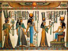 #Nefertari haciendo una ofrenda a Isis.