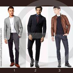 1,2,3 Increíble combinación por cual te decides. Moda tu decides ¿te los pondrías?  #ModaDeHombre
