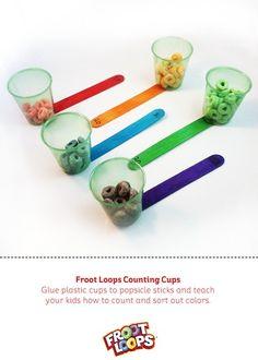 Froot Loops Counting Cups – La mejor manera para que tus hijos practiquen las cuentas.