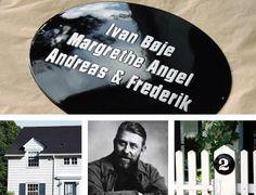 Porcelain Enamel Signs - Black house numbers & name plaques (black enamel, Knud V. Front Door Entrance, Name Plaques, House Numbers, Happy Birthday Me, Black Enamel, Black House, Curb Appeal, Typo, Tiny House