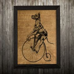 Great Dane print. Dog poster. Animal decor. Burlap print.  PLEASE NOTE: this is not actual burlap, this is an art print, the image is printed on art