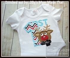 1st Christmas Boy Applique - 4 Sizes! | What's New | Machine Embroidery Designs | SWAKembroidery.com Jazzy Zebra Designs