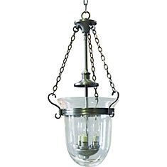 Essex Collection Antique Nickel 3-light Foyer Pendant