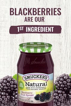 Blackberries are our number one ingredient in Smucker's® Natural Blackberry Fruit Spread. Enjoy the fresh fruit taste and no high fructose corn syrup. Tap the Pin to Buy Now! Banana Dessert Recipes, Healthy Dessert Recipes, Healthy Drinks, Healthy Eating, Fried Chicken Recipes, Steak Recipes, Diet Recipes, Cooking Recipes, Diabetic Recipes