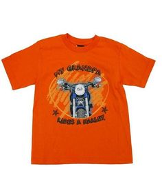 da0085befc Harley-Davidson® Boys' Orange T-Shirt My Grandpa Rides A Harley House