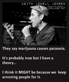 marijuana causes paranoia