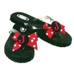Monogrammed flip flops-Morgan & Company ~ would be cute for cheerleaders Cheer Gift Bags, Cheer Gifts, Ribbon Flip Flops, Flip Flop Shoes, Georgia Girls, Clog Sandals, Trendy Jewelry, Kid Styles, Baby Shoes