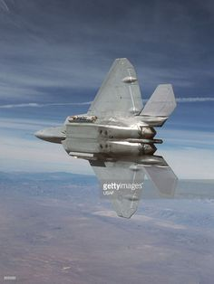 An F-22 Raptor 4001 stealth fighter practices test manovers in this file photo from February 20, 2001 at Edwards Air Force Base, CA. The Pentagon gave Lockheed Martin approval August 15, 2001 to begin production of the stealth jet to replace the Air Force's F-15 fighters.