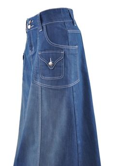 Modest Chic Long Denim Skirt # ET-0558