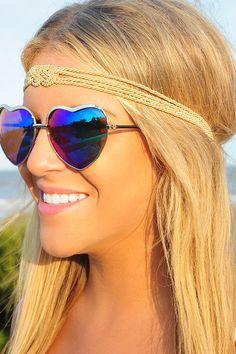 Tie Me A River Headband: Gold