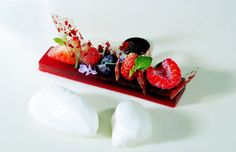 """World's Greatest Chef Ferran Adrià and the Food of El Bulli: """"Quince Paste"""" of Red Fruits with Curd"""