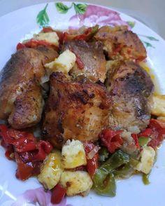 Yams, Mediterranean Recipes, Greek Recipes, Biscotti, Cooking Recipes, Cooking Ideas, Pork, Food And Drink, Menu