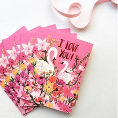 """A blog about DIY, design, arts and crafts. -- """"I Love You!"""", Illustrated by Carolyn Gavin for Red Cap Cards"""