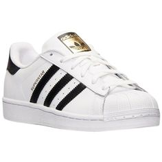 Pre-owned Adidas Superstar Black/white Athletic Shoes ($167) ❤ liked on Polyvore featuring shoes, adidas, leather footwear, pre owned shoes, black and white leather shoes and genuine leather shoes