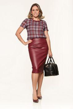 #modanotrabalho#fashionatwork# xadrez e couro para trabalhar#