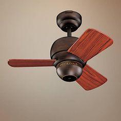 "24"" Micro Roman Bronze Finish Ceiling Fan - #61206   Lamps Plus"