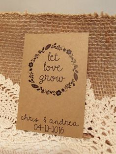 20 Custom Seed Packet Wedding Favor Let Love Grow Personalized Favour Envelope Diy Seeds Herbs Flower Fill Your Own Plant With