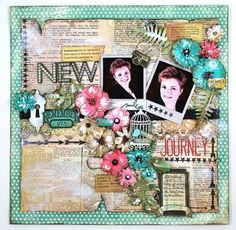 Gorgeous layout designed by, Eva Dobilas using Heidi Swapp's Color Shine and Petaloo's Color Me Crazy flowers.  Both projects go so well together.  Come join us as we inspire you with Altered Art all week long and we are giving out prizes everyday.