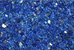 "Deep Sea Blue Reflective 1/4"" Fire Glass"