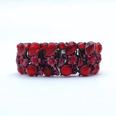 FitBit Flex Bracelet Coverup: Ruby Red Crystals by FitnessBitsy