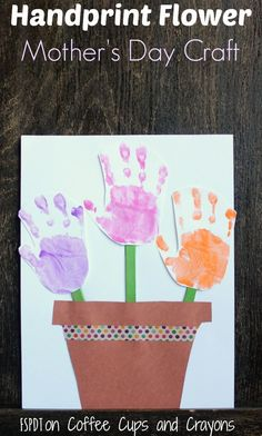 handprint flower craft poem s day and flower pots on 2150