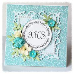 MOJE PRACE First Holy Communion, Cute Cards, Squares, Scrapbooking, Pictures, Diy, Communion Invitations, Christening, Photos