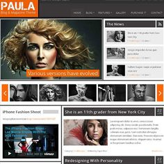 Paula Joomla Template for Blog and Magazine