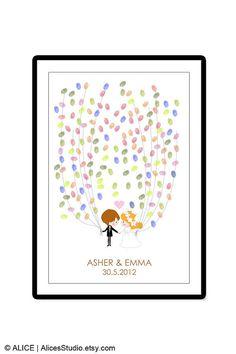 Guest book ideas.                                                       Wedding Guest Book Alternative  Personalized by AlicesStudio, $20.00
