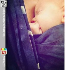 Repost: Who doesn't love sleeping babies? #wrapsodybreezeluna D ♡She sleeps best on my chest♡ (On the Wrapsody Instagram)