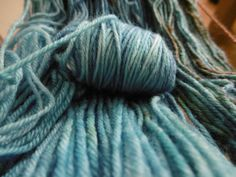 hand-dyed wool with food coloring