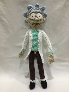 Rick and Morty Rick Sanchez Amigurumi by crushed88 on Etsy