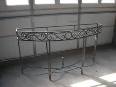 Custom made iron table for customer.
