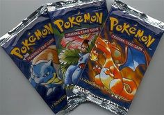 Pokémon cards.Pounced on the free ones.