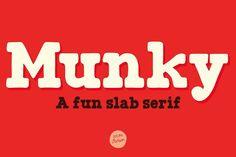 Munky font by It's me simon on @creativemarket