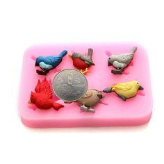 Birds Series DIY Mini Silicone Chocolate Mold