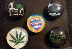 Check out this item in my Etsy shop https://www.etsy.com/listing/229813621/set-of-5-strong-glass-marijuana-magnets #magnets #Marijuana #weed #pot #hippy