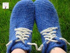 tejidos Artesanales, Pantufla tejida al crochet, 100% lana Mohair