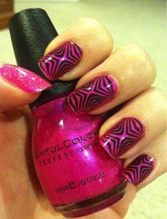 Look Into My Nails, nail stamping, nails, nail stamp art, konad, manicure