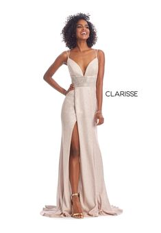 Ultra flattering Clarisse Couture long dress style 8009 is the perfect choice for any upcoming occasion. This dress showcases a plunging V cut neckline . Prom Party Dresses, Party Gowns, Perfect Prom Dress, Prom Girl, Fabulous Dresses, Costume, Formal Gowns, Sheath Dress, Evening Gowns