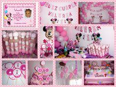 Baby Nina Fiestas: Fiesta temática Minnie Mouse para Valeria Minnie Mouse, Baby Shower Gifts, Birthdays, Frame, Party, Home Decor, Shower Ideas, Gift Ideas, Google