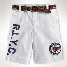 Polo Ralph Lauren Multi Big Pony Flat Front Chino Prep Shorts Red