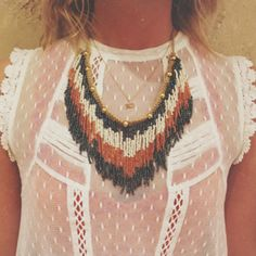 Ombre Fringe Collar style pic on Free People