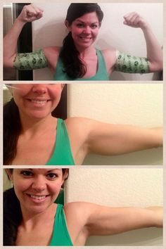 This is a fellow Distributor who wrapped her arms! Amazing results after just 1 wrap and 45 minutes! #arms #buff #summer #ready Contact me to get yours today! 903-504-1482