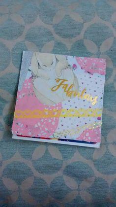 This was a Spring themed flipbook that I enjoyed letting loose on. You can see the front cover is messy but I think it's messy in a good way. I chose a yellow and pink colour scheme.