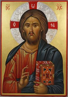 Jesus Christ Pantocrator - This is a premium quality icon made with pure 23K gold leaf. Painted using traditional technique - egg tempera, lime wood panel with slats on the back, varnish, 23 karat gold leaf. About our icons Blessedmart offers hand-painted religious icons that follow the Russian, Greek, Byzantine and Roman Catholic traditions. We partner with